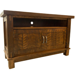 TCE Timber Media Console With 2 Doors