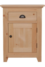 TCE Bernard Lake 1 Drawer And Door Nightstand