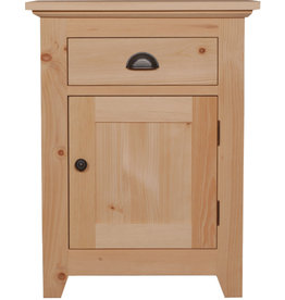 TCE Bernard Lake 1 Drawer And Door Nightstand