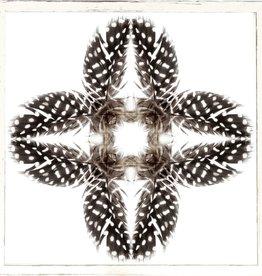 "TCE Feather Mandala I 17"" x 17"""
