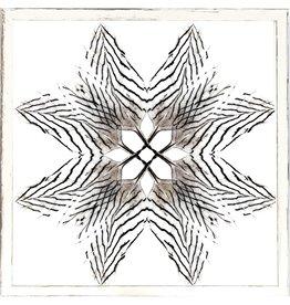 """TCE Feather Mandala III 40"""" x 40"""""""