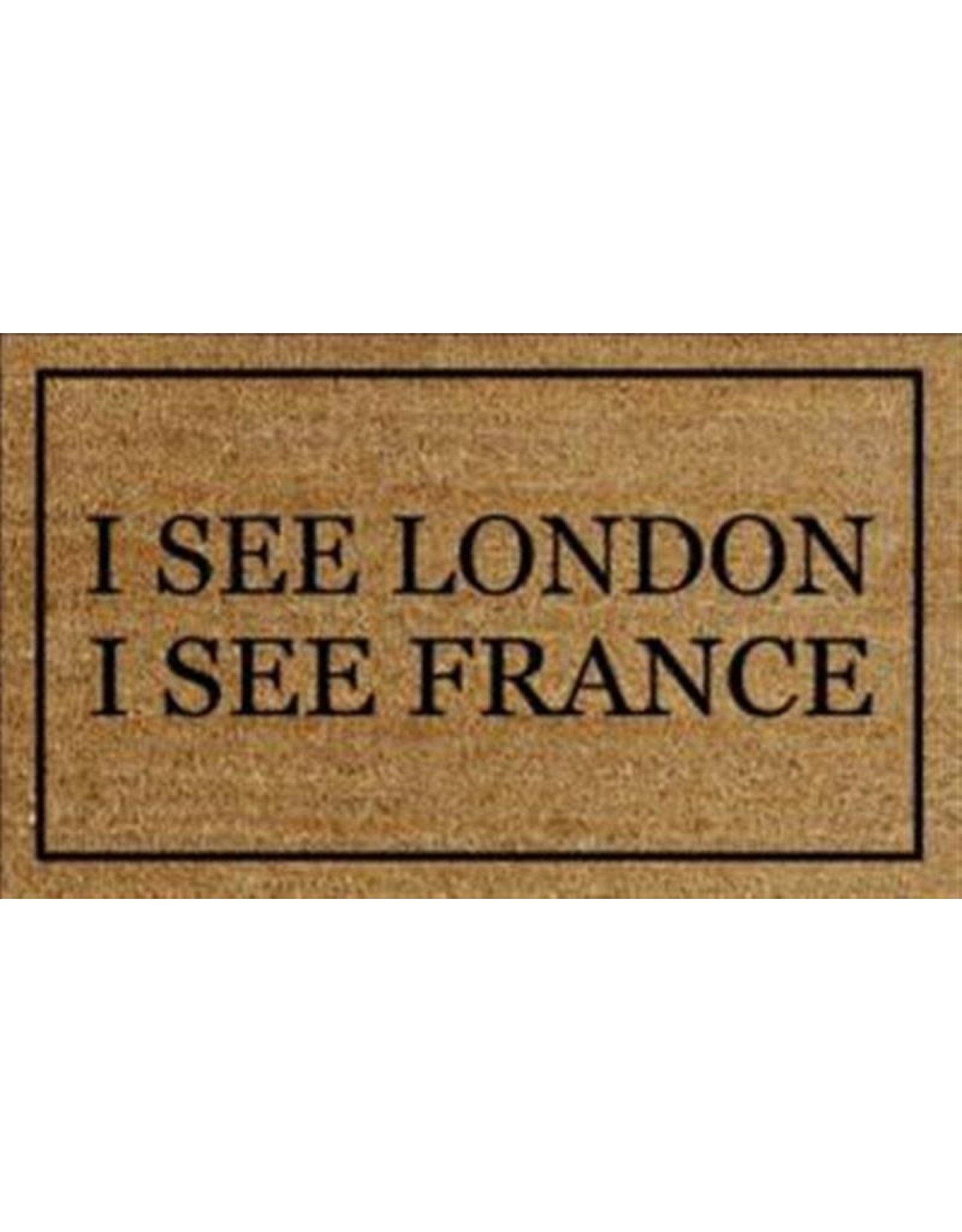 TCE I See London, I See France Doormat