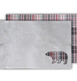 TCE Bear & Grey Plaid Placemat