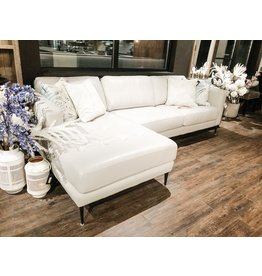 TCE 3795 Leather Sectional (RHF Loveseat & LHF Chaise)
