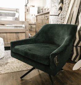 TCE Lira Swivel Chair Deep Green