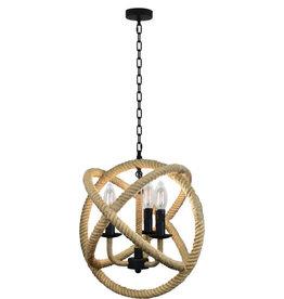 TCE Hemp Rope And Metal Pendant Light