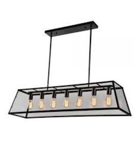TCE 7 Light Lantern Chandelier With Glass Shade