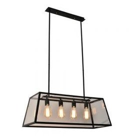 TCE 4 Light Lantern Chandelier With Glass Shade