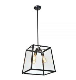 TCE 3 Light Pendant w GlassShade Lg