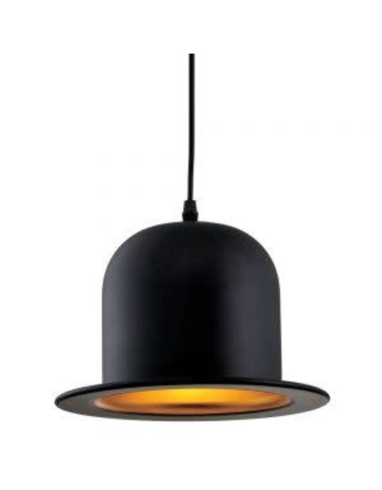 TCE Single Light Black Aluminium Pendant
