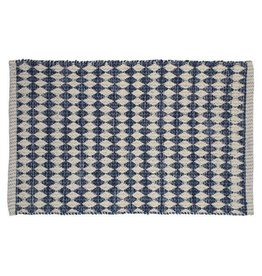 TCE Natural & Blue Motif Scatter Rug