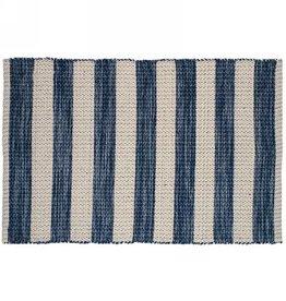 TCE Blue & Natural Stripe Scatter Rug