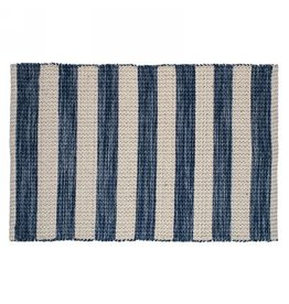 TCE Blue & Natural Stripe Scatter Rug
