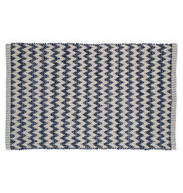 TCE Blue & Natural Zigzag Motif Scatter Rug