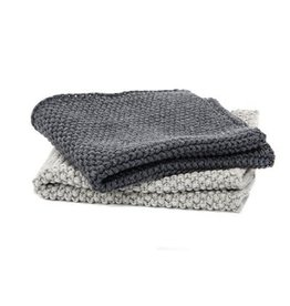 TCE Janette Grey Dish Cloth Set of 2