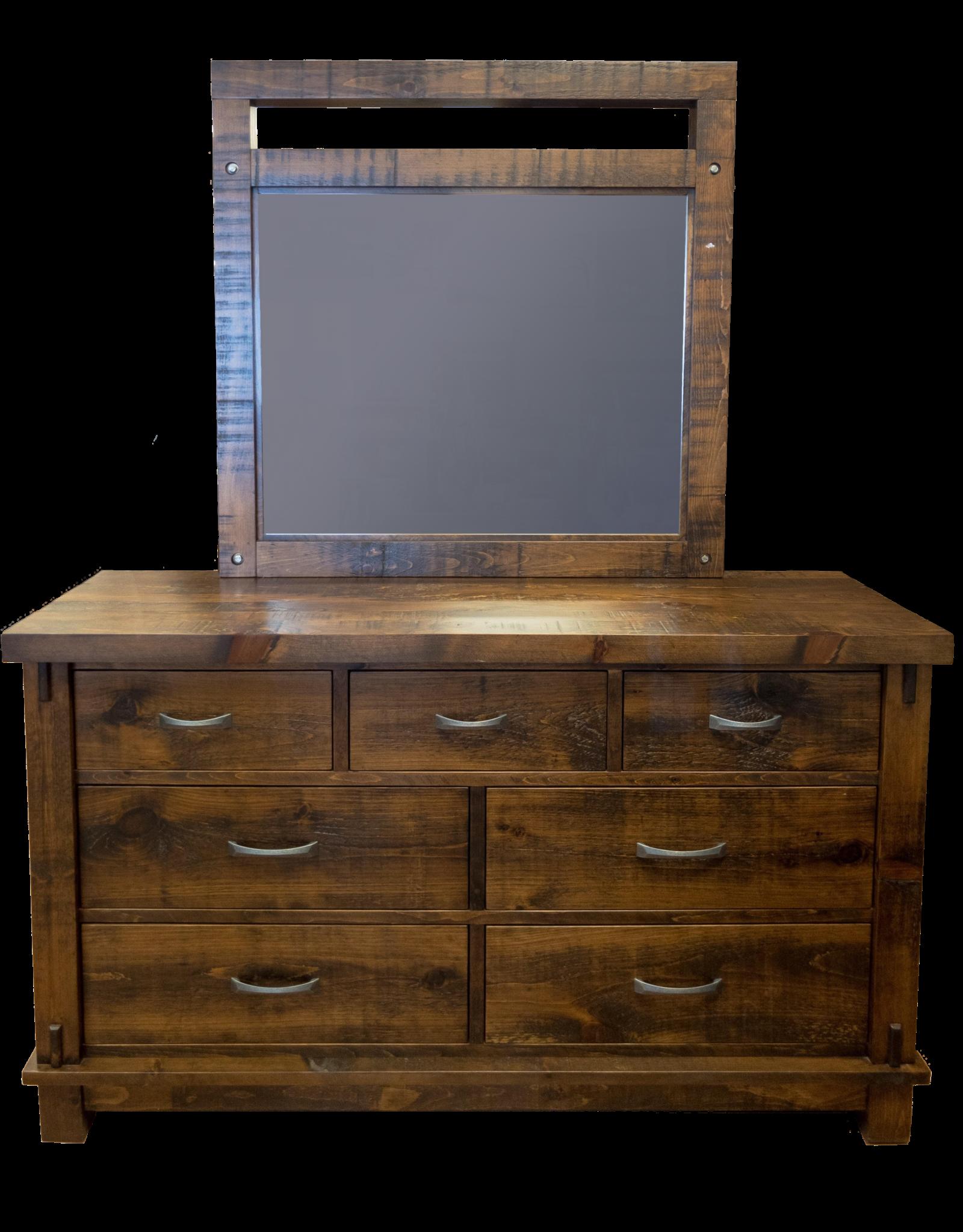 TCE Timber 7 Drawer Dresser