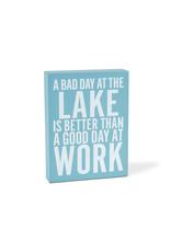 "TCE Rectangle ""Good Day At Lake…"" Block"