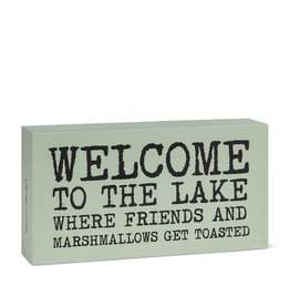 "TCE Rectangle ""Welcome to the Lake…"" Block"