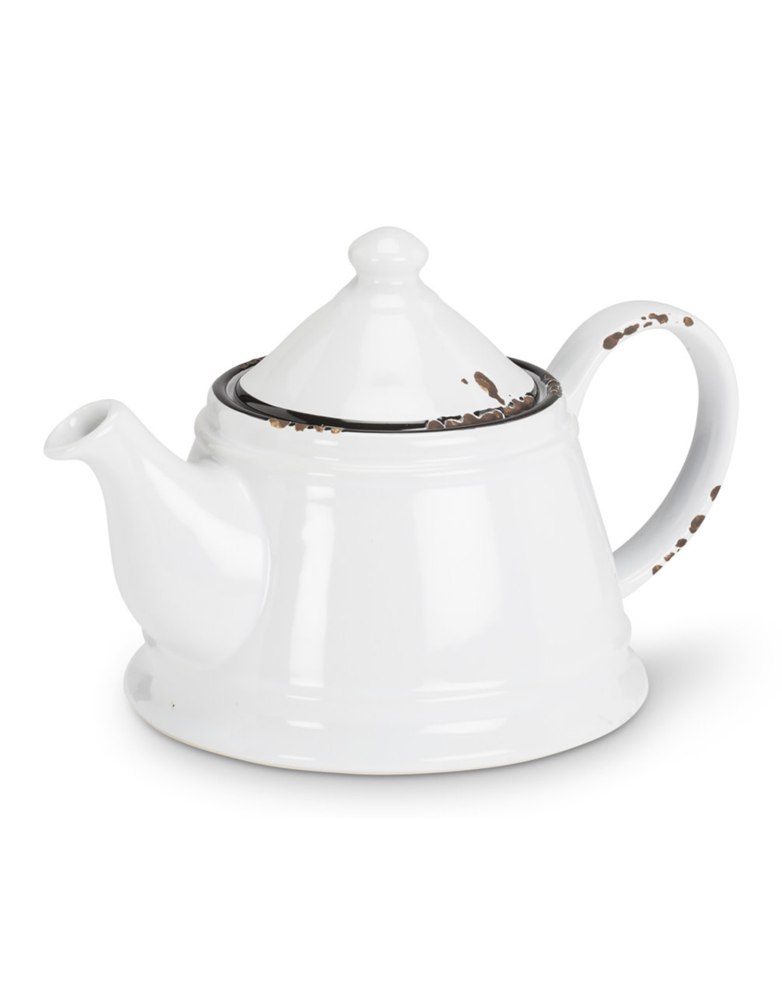 TCE Enamel Look Teapot White