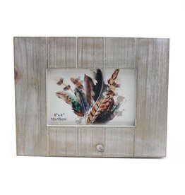 TCE White Washed Wood Frame 4x6