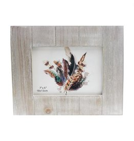 TCE White Washed Wood Frame 5x7