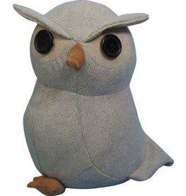 TCE Light Gray Owl Door Stop