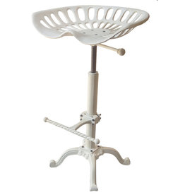 TCE Tractor Seat Stool White