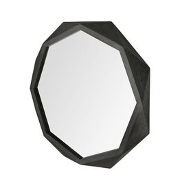 "TCE Aramis I 32"" Black Wood Mirror"