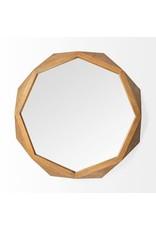 "TCE Aramis I 32"" Brown Wood Mirror"