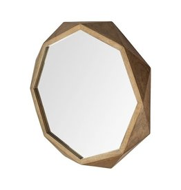 "TCE Aramis II 41"" Brown Wood Mirror"