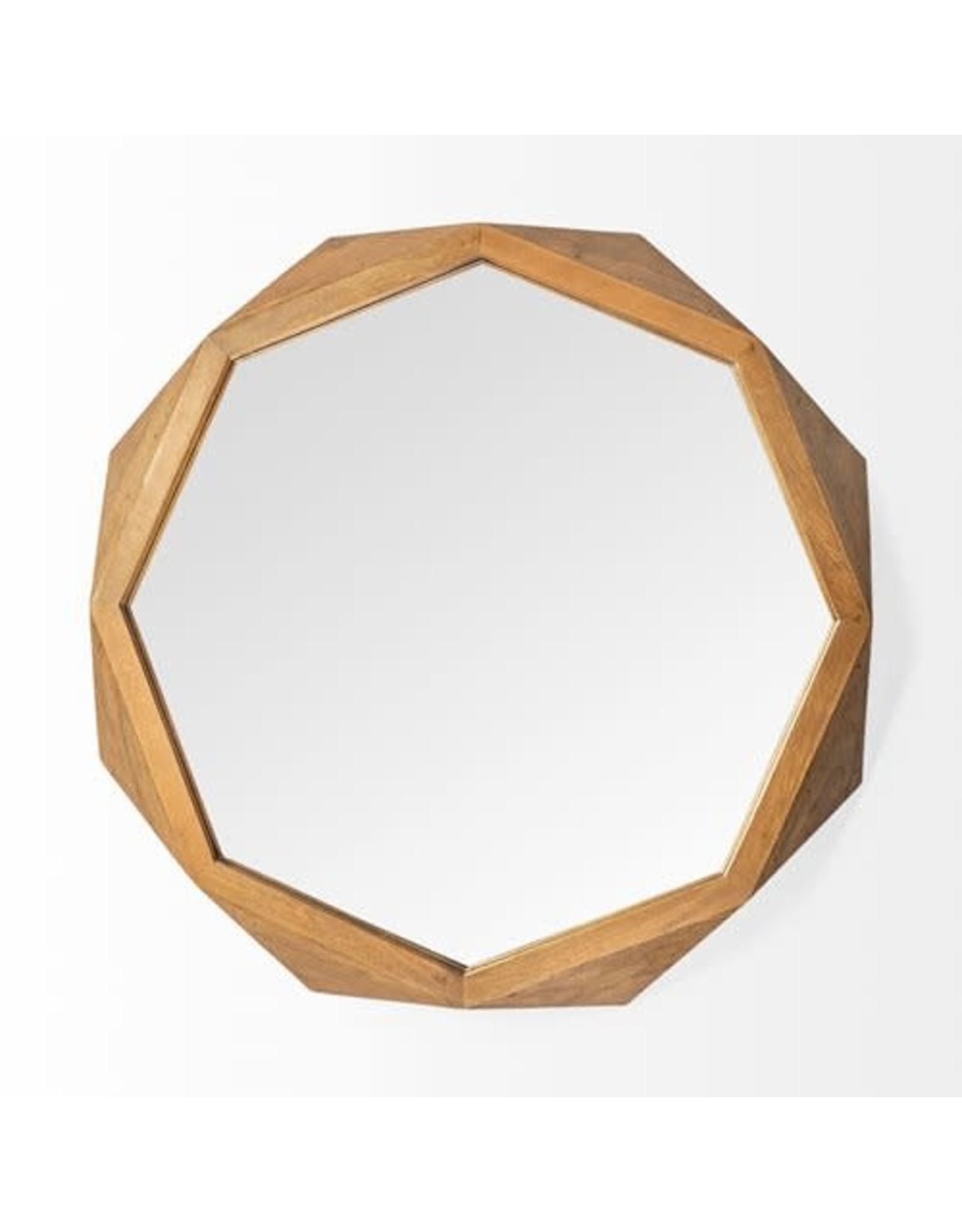 """TCE Aramis II 41"""" Brown Wood Mirror"""