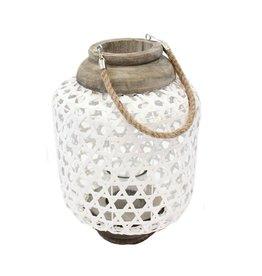 TCE White Weave Lantern Large