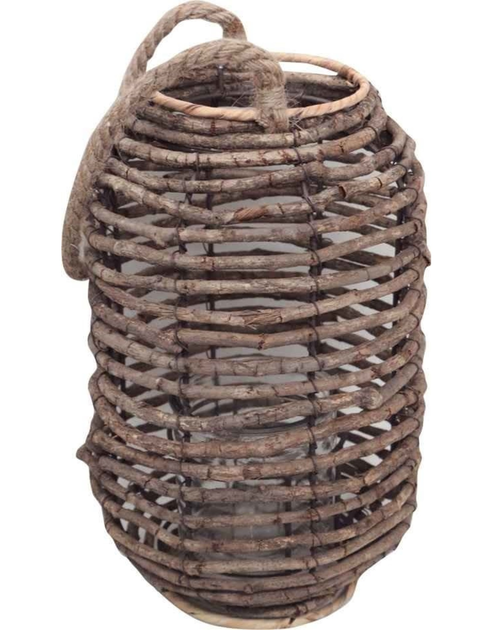 TCE Wicker Lantern Candle Holder