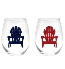 TCE Adirondack Wine Glasses Set of 2