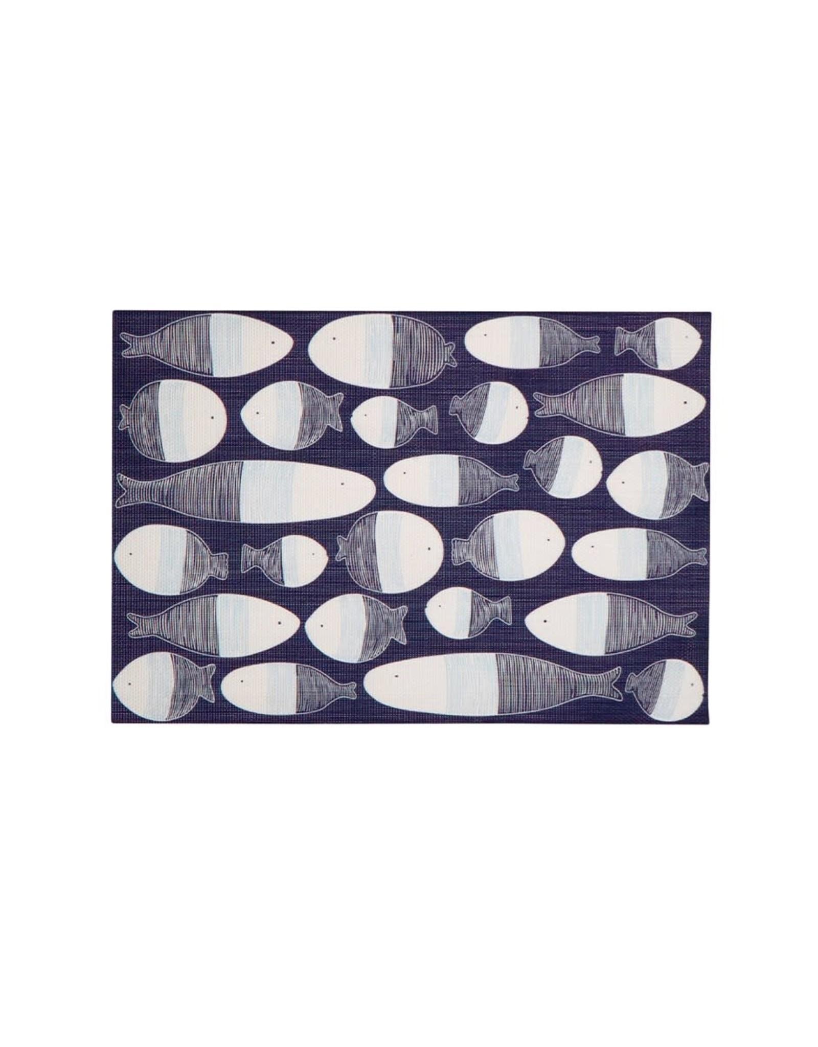 TCE Fish Vinyl Placemat Navy