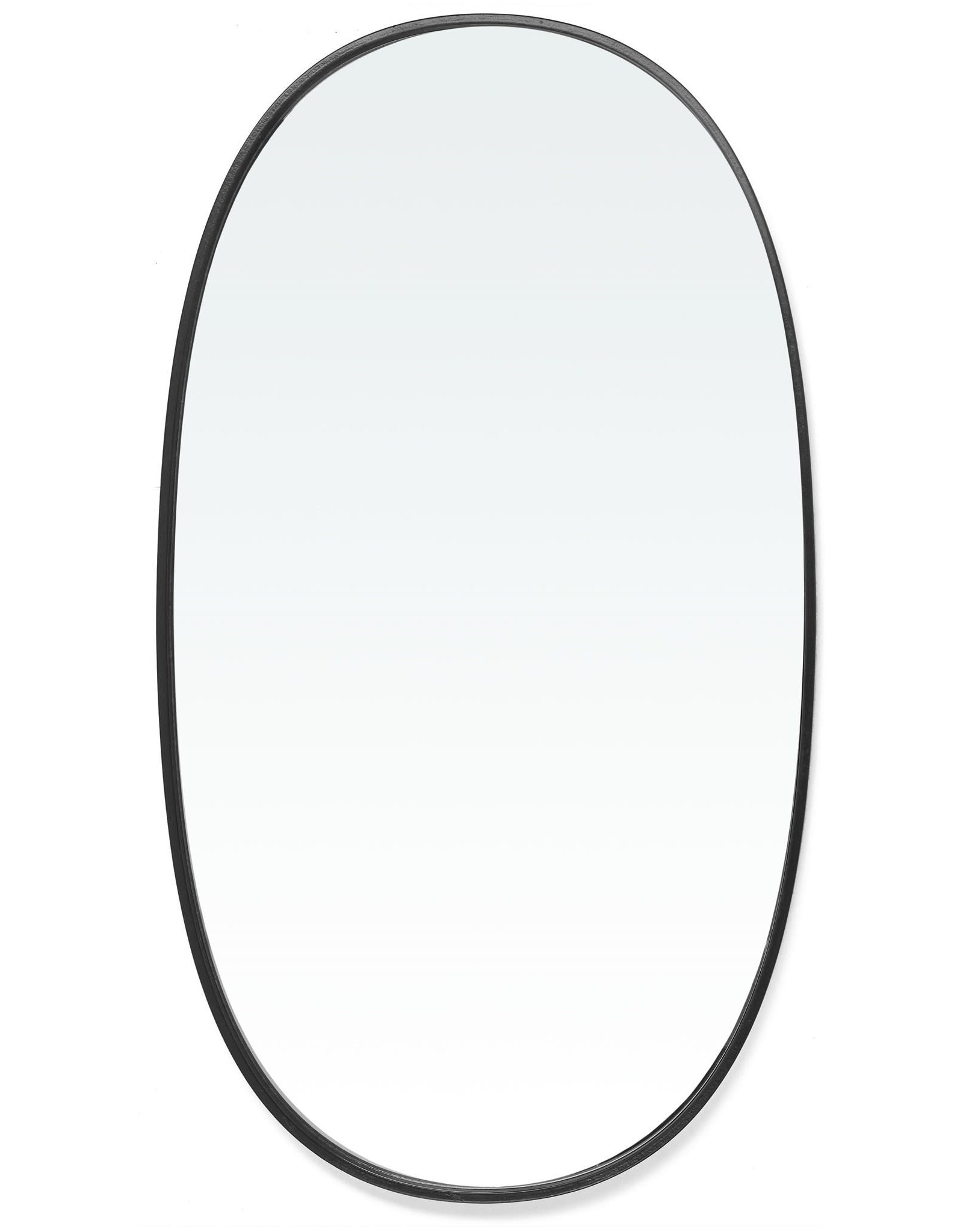 TCE Borba Black Oval Mirror Large