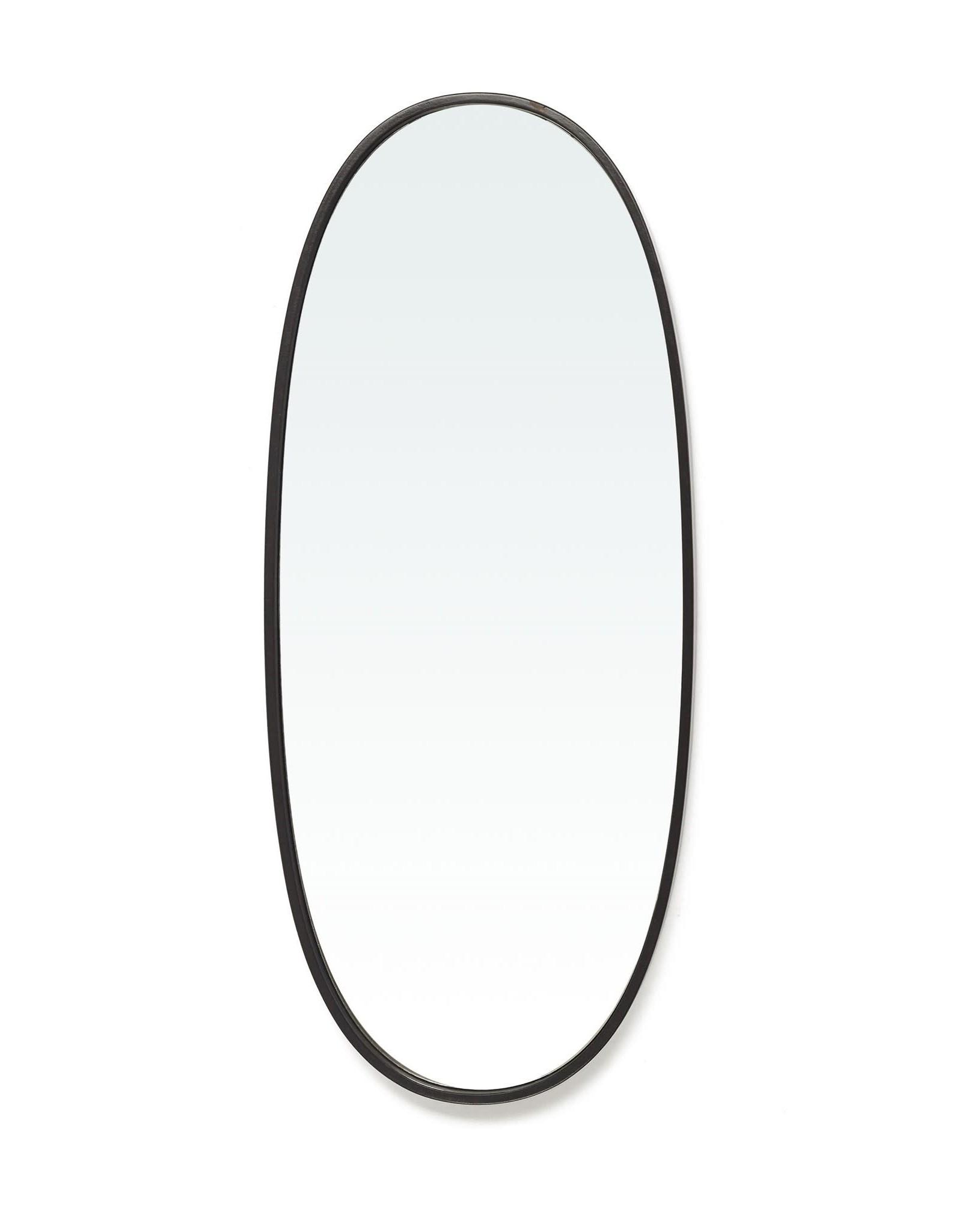 TCE Borba Black Oval Mirror Small