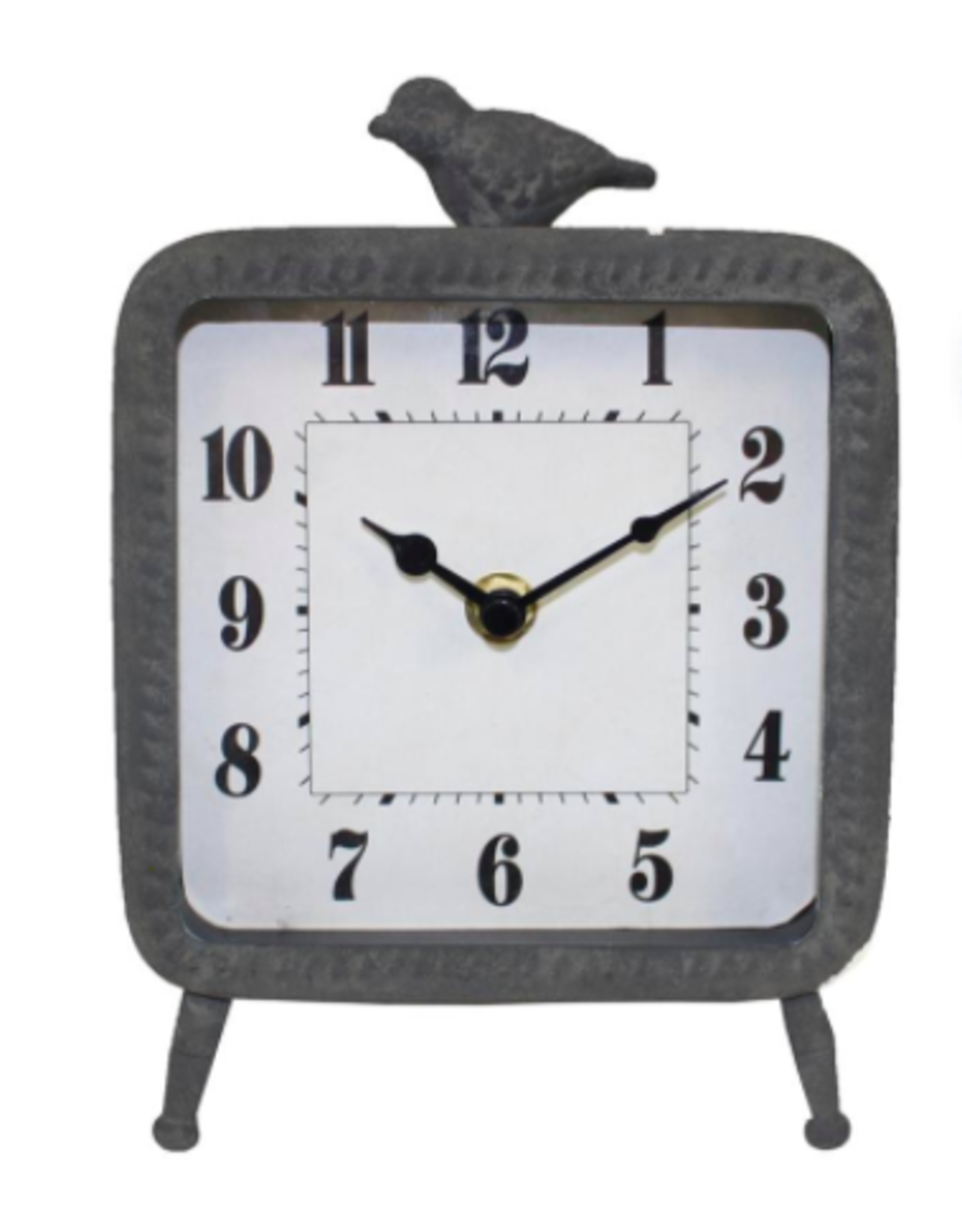 TCE Distressed Table Clock