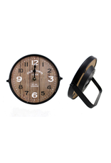 TCE Round Wood Table Clock