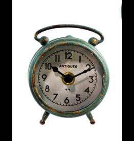 TCE Green Iron Table Clock