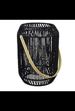 "TCE 12"" Lantern W/Glass Insert Black"