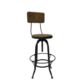 TCE Dorchester Industrial Stool With Back