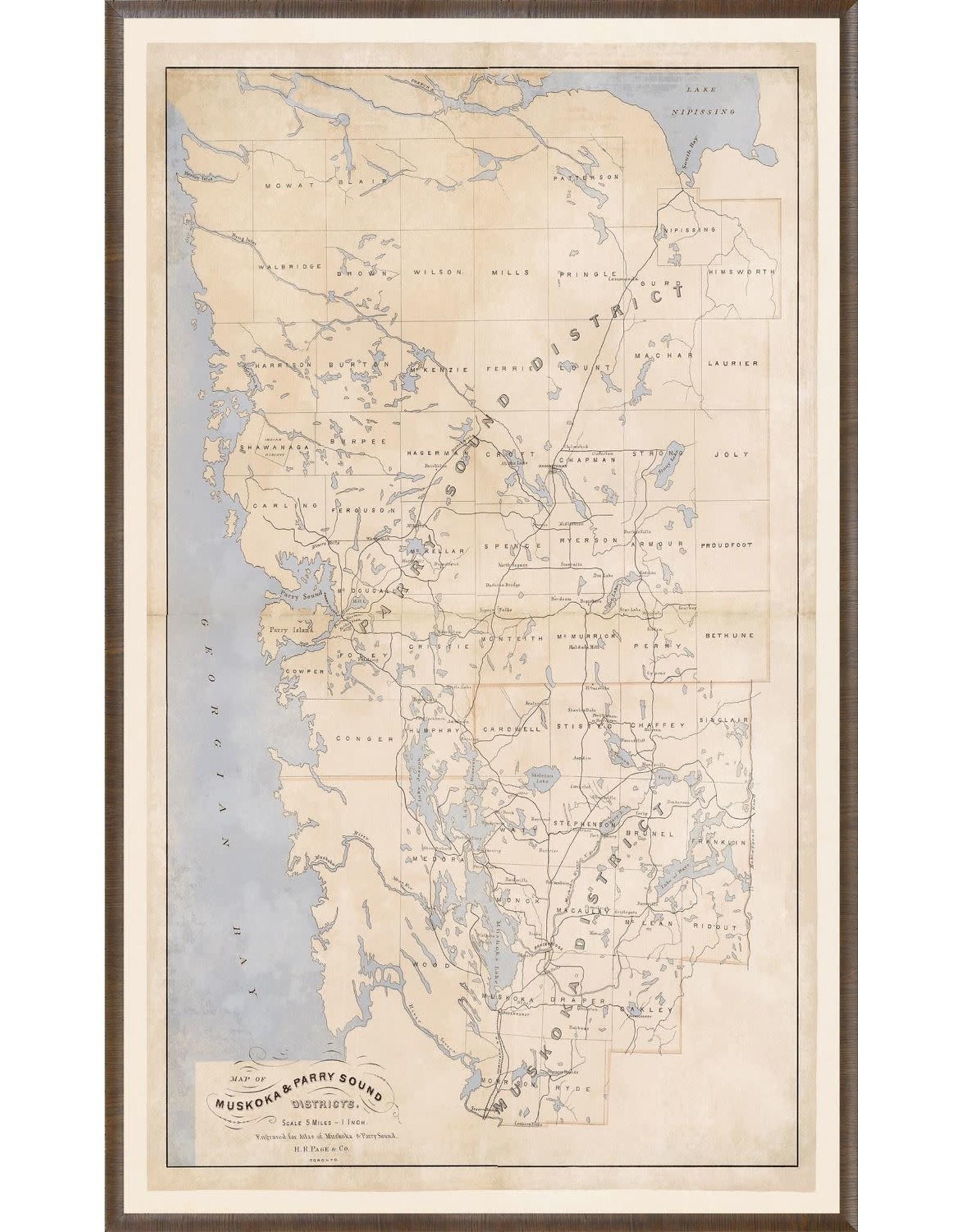 TCE Map - Muskoka & Parry Sound 1879