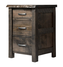 TCE Edge 3 Drawer Nightstand