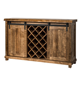 "TCE Wine Cabinet 60"" With Live Edge"