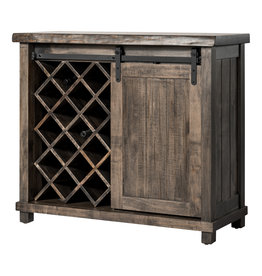 "TCE Wine Cabinet 42"" With Live Edge"