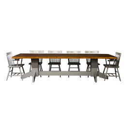 "TCE Live Edge Double Pedestal 72"" Dining Table"