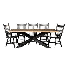 "TCE Herringbone 72"" Dining Table w/ Metal Base"