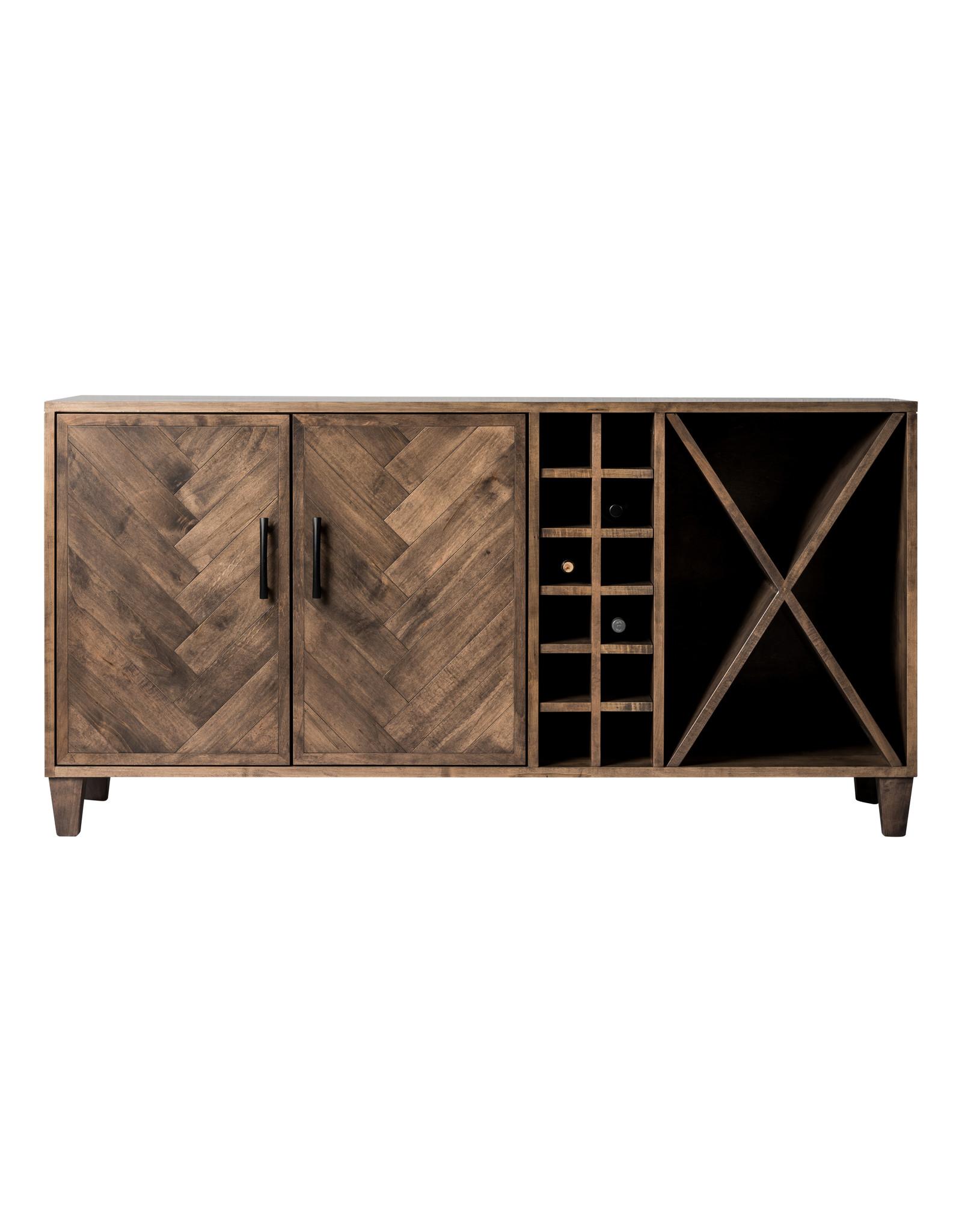 TCE Herringbone Wine Cabinet