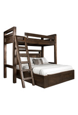TCE Timber Loft Bed With End Drawers